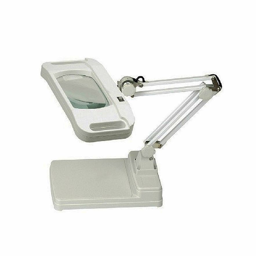 220v 10x Rectangle Lens Lamp Magnifying Glass Desktop Stand Magnifier With Lights For Reading Working Magnifying Desk Lamp Magnifier Magnifying Glass