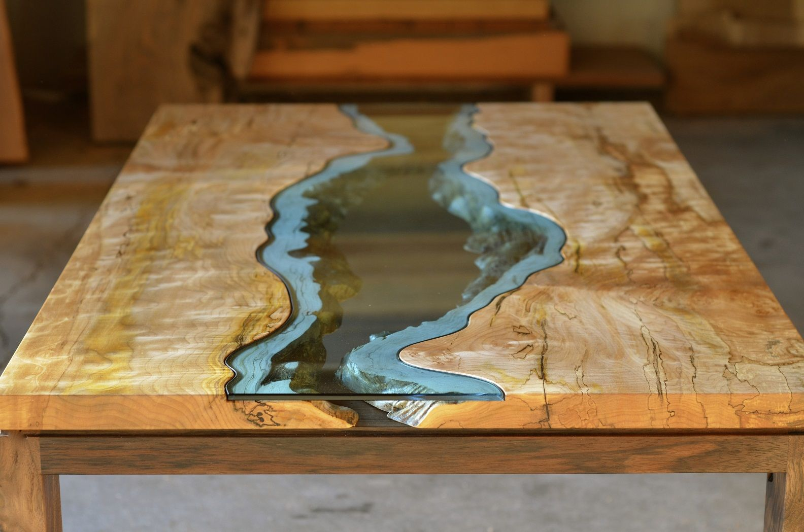 Furniture Designer Greg Klassen Created These Reclaimed Wood Tables With  Embedded Rivers And Lakes To Remind Him Of The Pacific Northwest