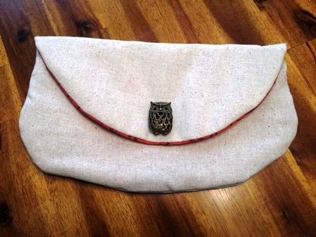 Owl Oatmeal Rounded Clutch A Bushel Peck Boutique