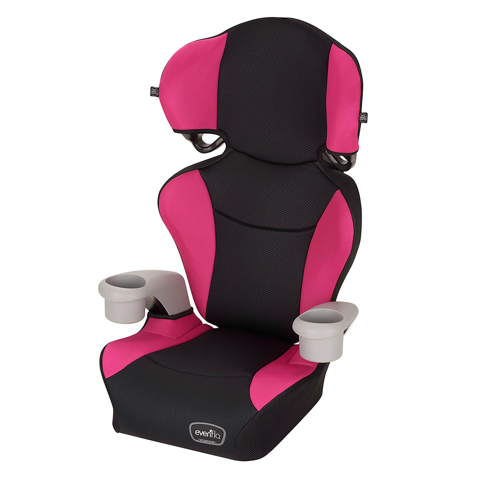 Evenflo Big Kid Sport High Back Booster Seat Pink With Images Booster Car Seat Car Seats Evenflo