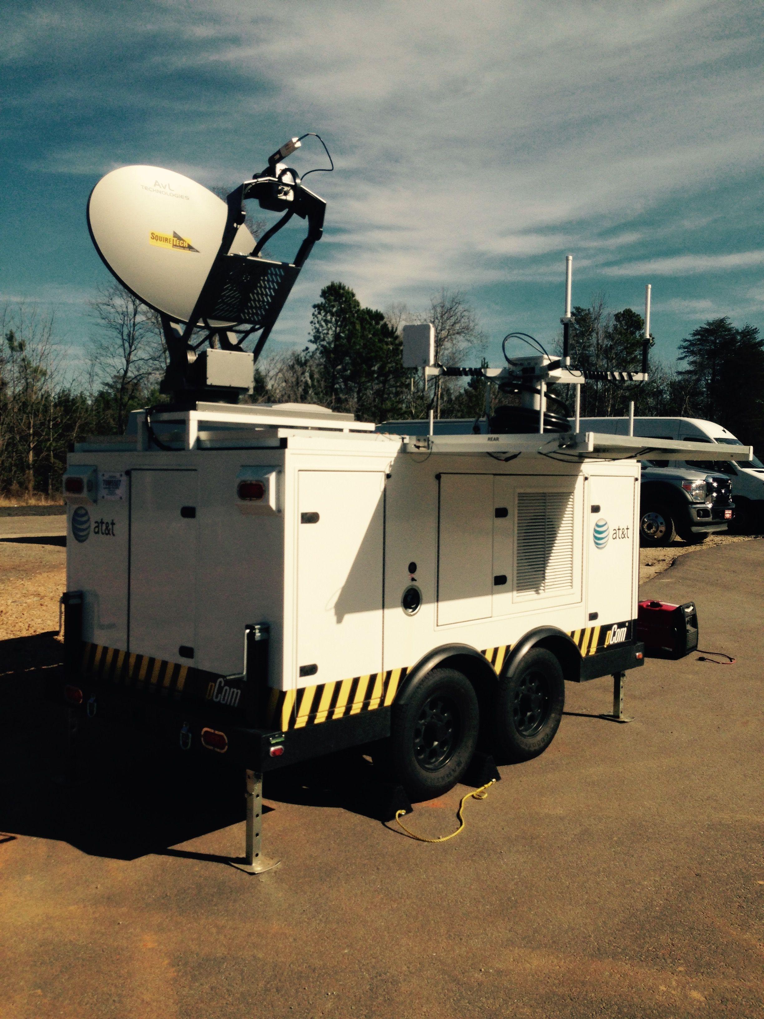 pCom VSAT Satellite Internet Cellular communications Trailer for Fast mobile response.