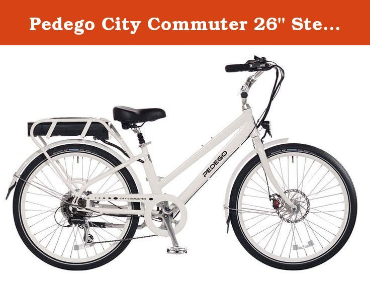 Pedego City Commuter 26 Step Thru White With Black Balloon Package 48v 10ah A Complete Package With Everything You Electric Bike Electric Commuter Bike Bike