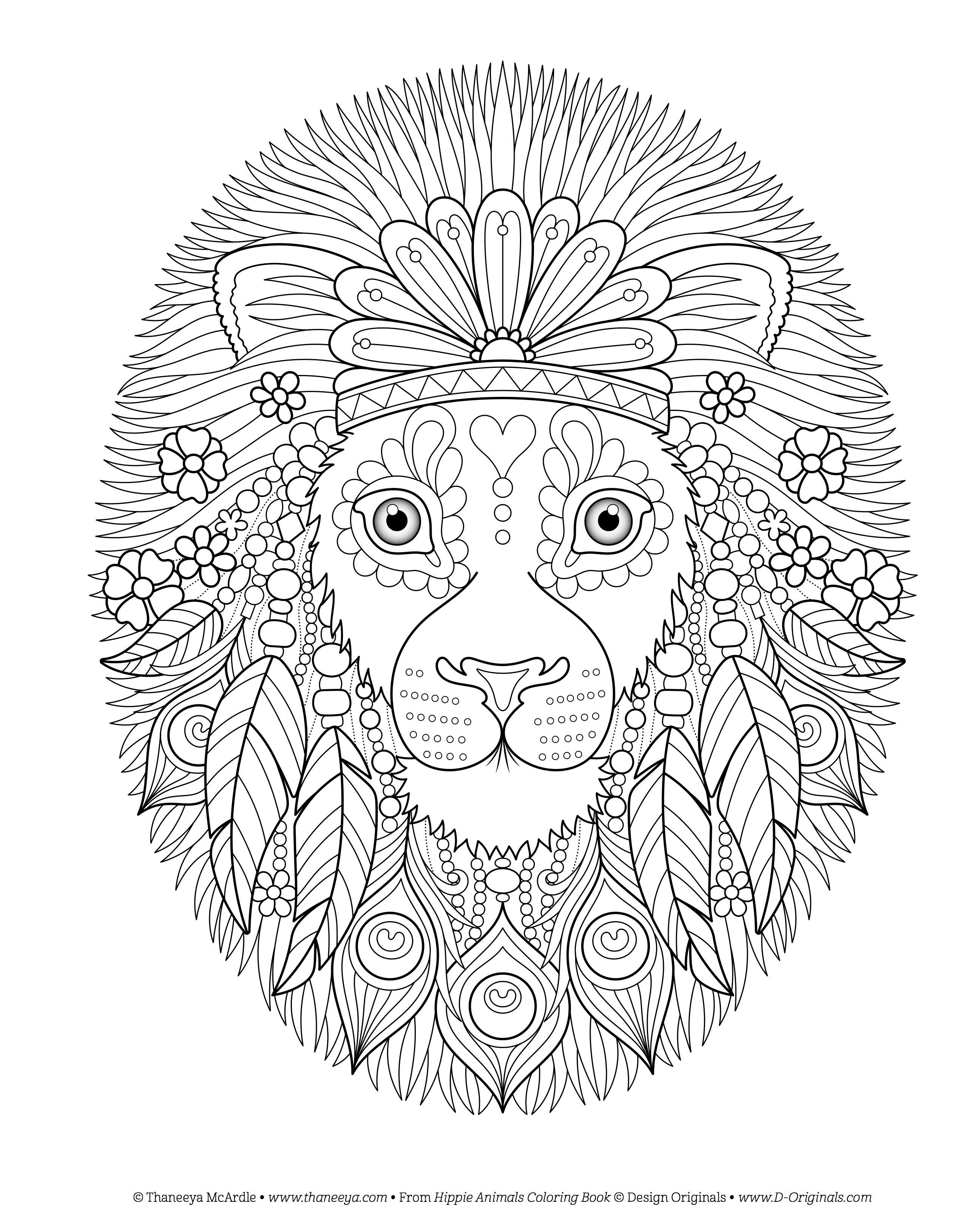 Amazon Hippie Animals Coloring Book Is Fun 9781497202085 Thaneeya McArdle Books