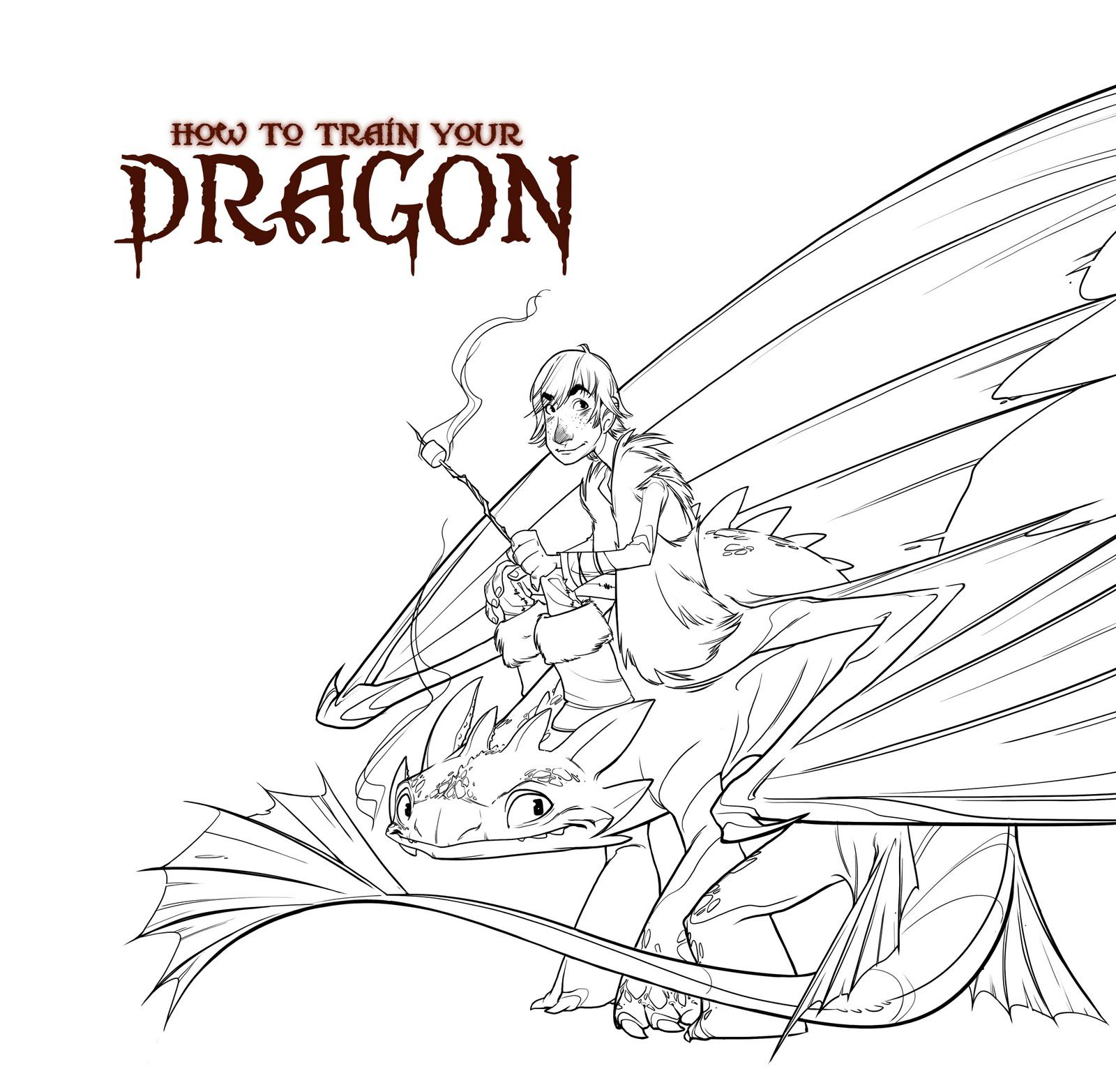 download how to train your dragon printable coloring pages for kids ...