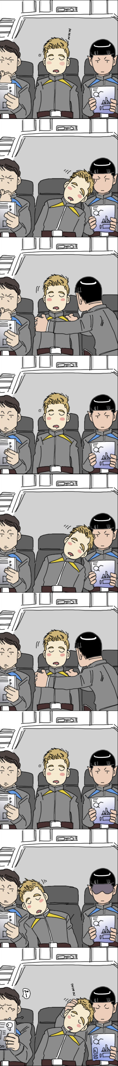 I don't normally pin Spirk but this is cute.