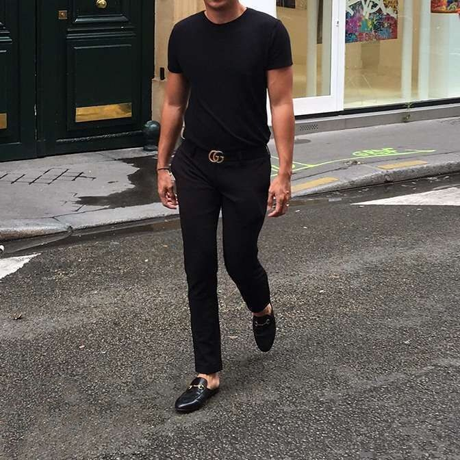 a98c8848e499 Celebrity Style  How to Wear Luxury Mule Slippers Loafers Outfit