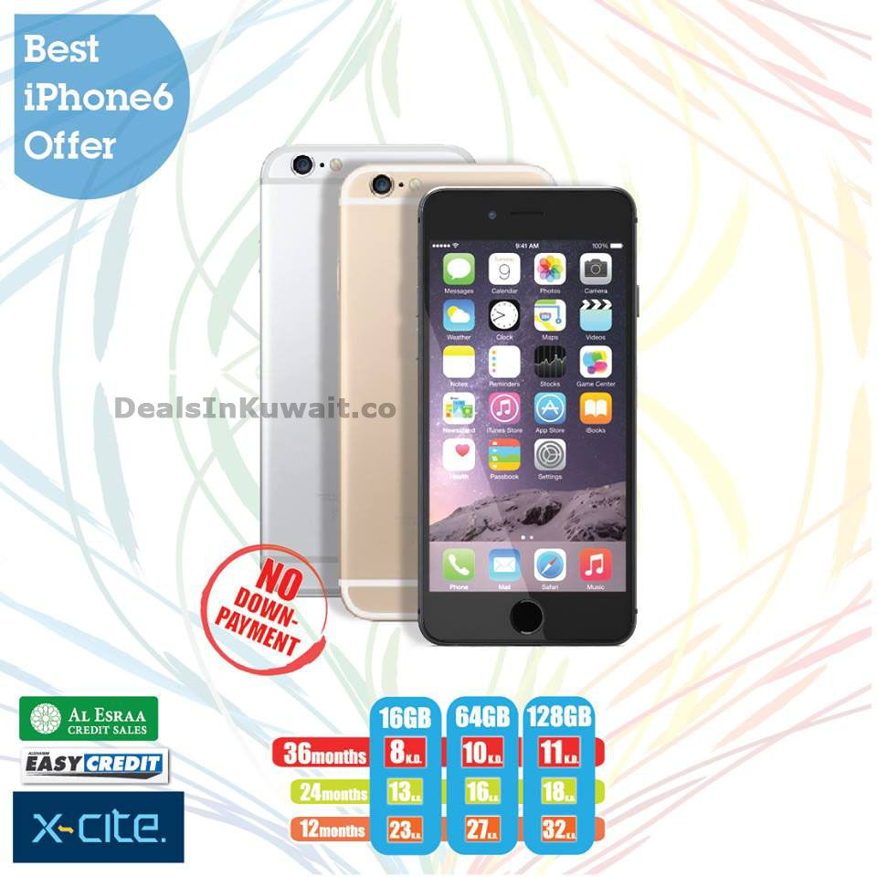 Easy Credit Offer on Apple iPhone 6 at Xcite by Alghanim ...