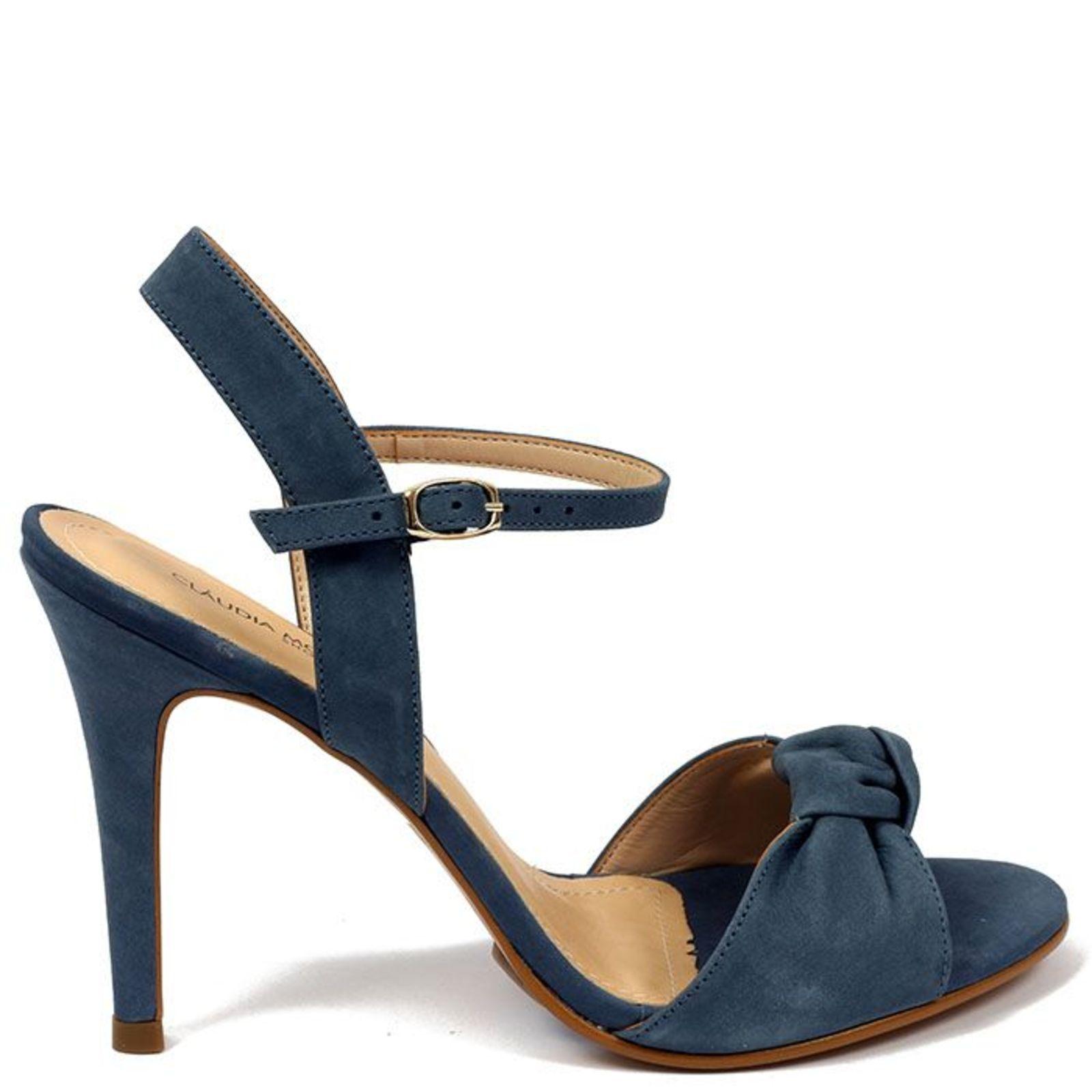 6e84569e0 Sandália Cláudia Mourão (AC9443) Nobuck Azul | Products | Shoes ...