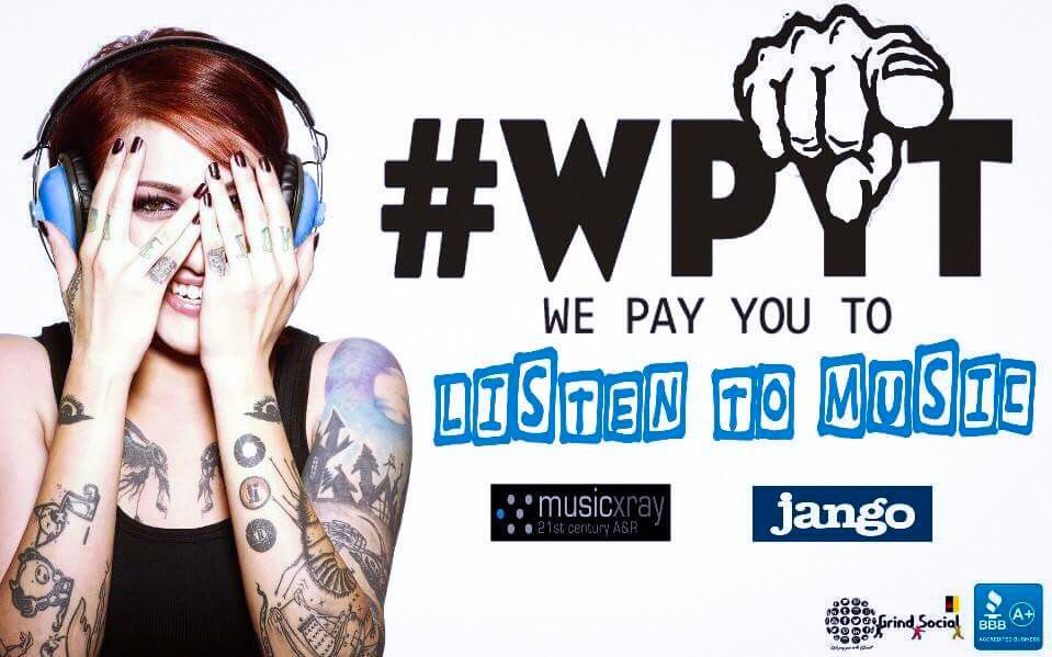 We Pay You To Listen To Music grindsocial wpyt Social