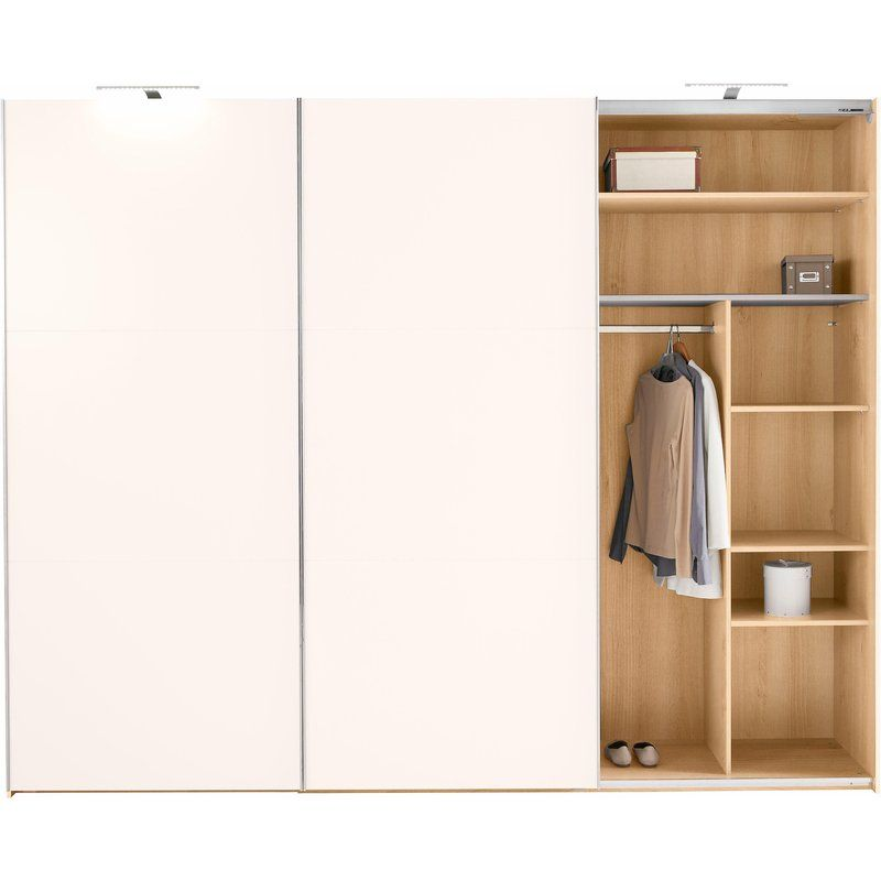 Armoire Penderie 3 Portes Coulissantes 3 Tiroirs Chene Blanc Armoire 3 Suisses Iziva Com Armoire Penderie Chene Blanc Porte Coulissante