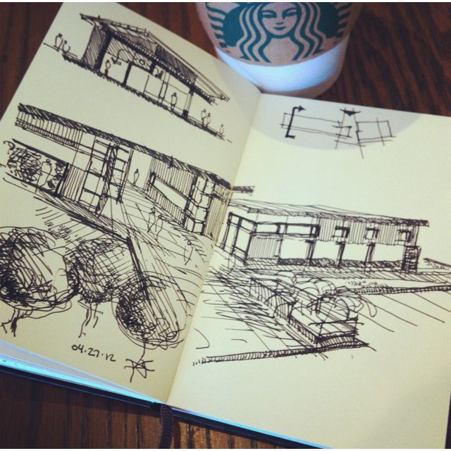 material and fenestration study process sketch | 04.27.12