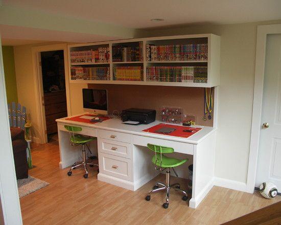 Two Person Desk Design Ideas Pictures Remodel And Decor Home Office Desks Two Person Desk Home Office Design Two person desk home office
