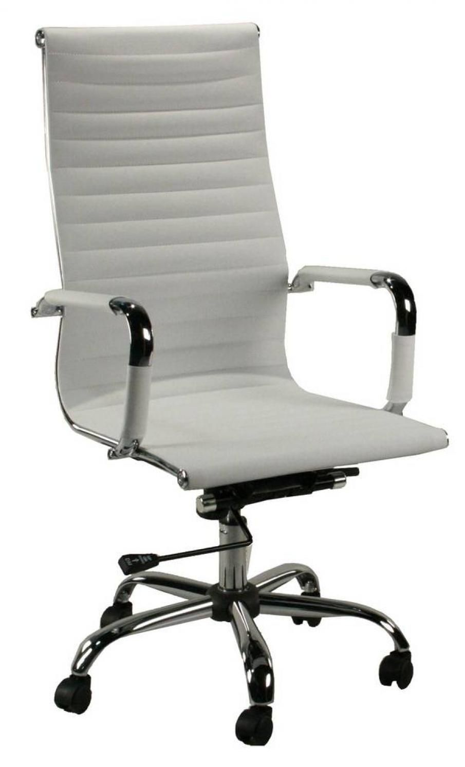 White Contemporary High Back Rolling Office Chair White Office Chair Leather Office Chair Modern Office Chair