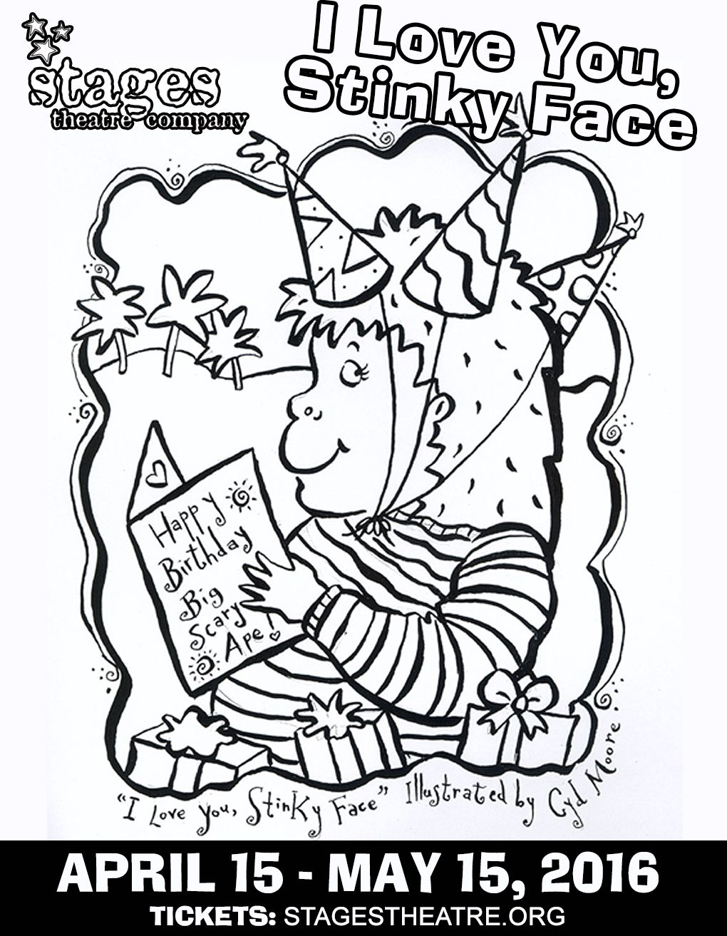 Coloring Sheet for I Love You, Stinky Face | I Love You, Stinky Face ...
