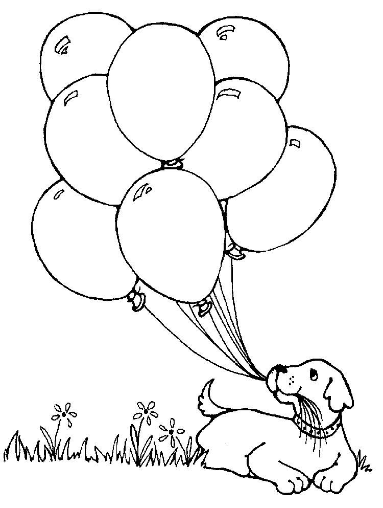 Balloon Coloring Pages With Dog Geburtstag Malvorlagen Malvorlagen Fur Kinder Malvorlagen Fruhling