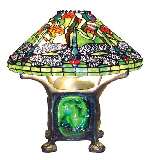Tiffany Style Dragonfly Table Lamp w/lit base Table Lamp $208