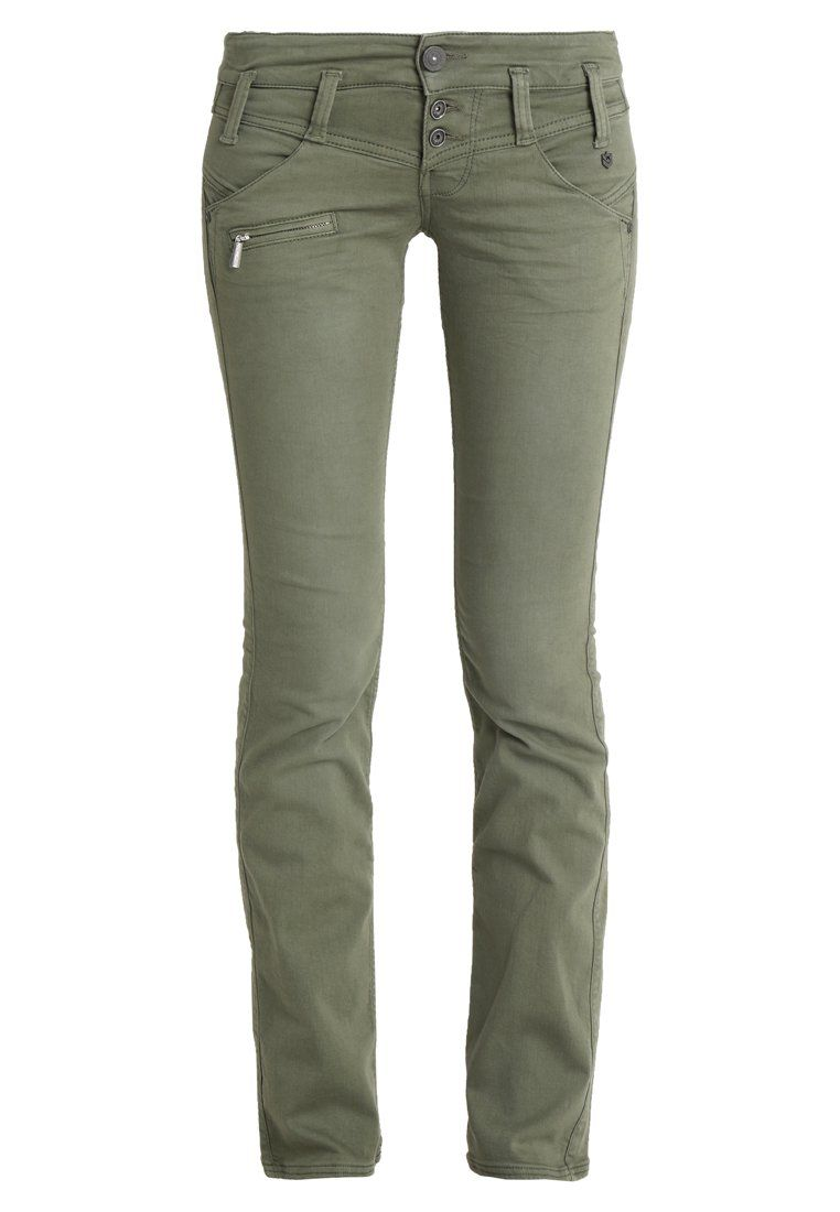 58283b3765ae49 Freeman T. Porter AMELIE NEW MAGIC COLOR - Jeans Straight Leg - burnt olive  - Zalando.de