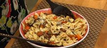 Pasta recipes - porcini mushrooms, winter squash, onion and basil taste great served over bow tie pasta. Enjoy this meaty mushroom Italian style pasta recipe.