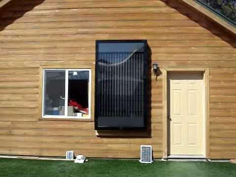 Soda pop beer can solar powered heater furnace panel - Solar air heater portable interior exterior ...
