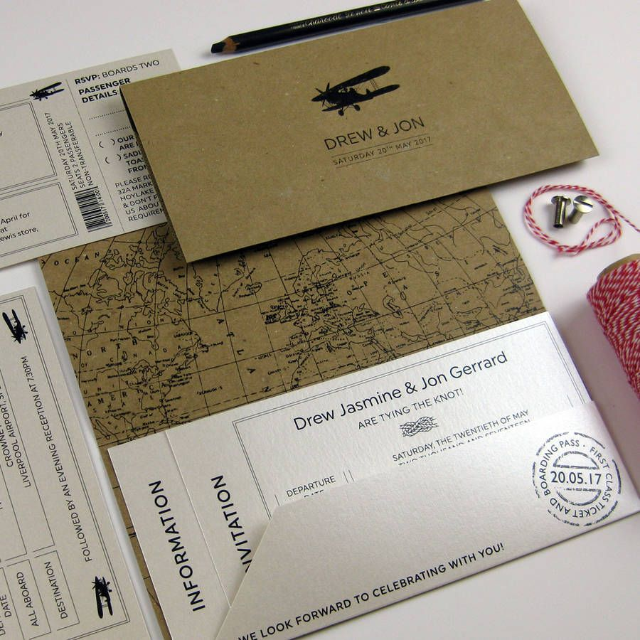 The Traveller Invitation By Dragonfly Couture Stationery Notonthehighstreet