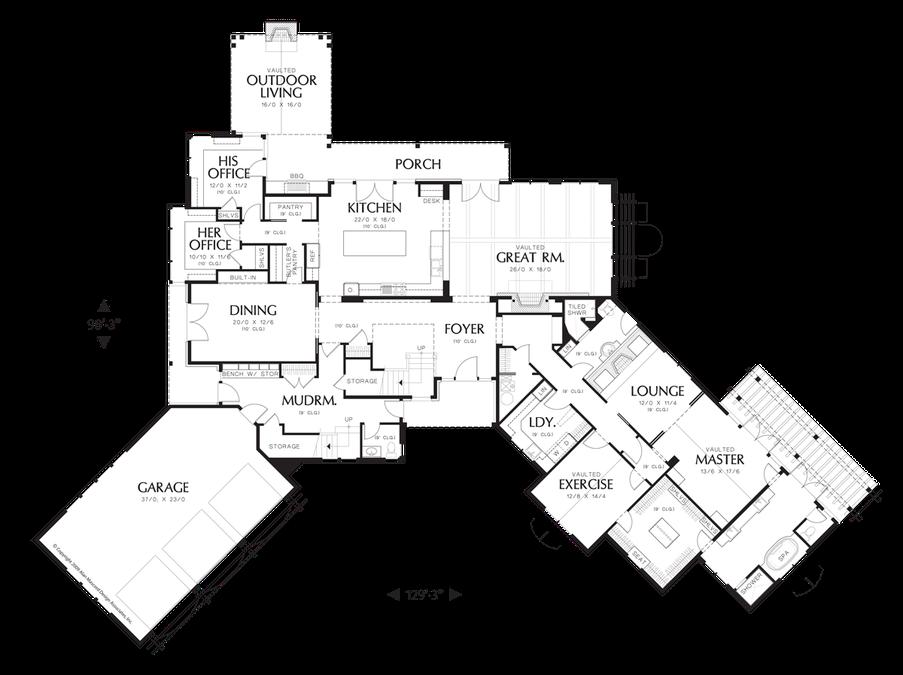 Image For Letterham Luxury Lodge Wth Open Floor Plan And Ample Amenities Main Floor Plan Craftsman Style House Plans Craftsman House House Plans