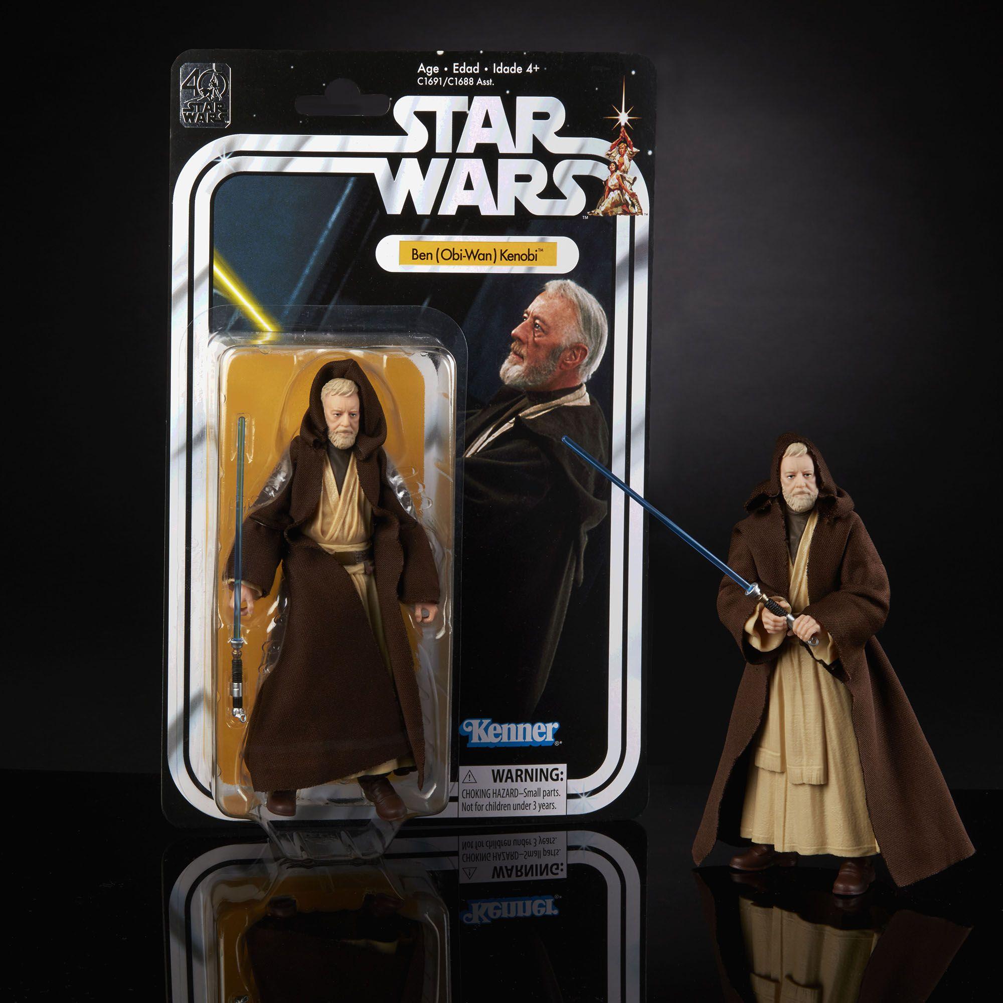 Star Wars The Black Series 77 Kenner Carded Figures 40th Anniversary Ben Obi Wan Kenobi Star Wars Figures Star Wars Toys Star Wars Black Series