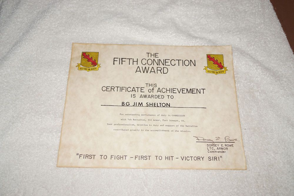 Lot Of 8 Military Certificates For Brigadier General James E Shelton