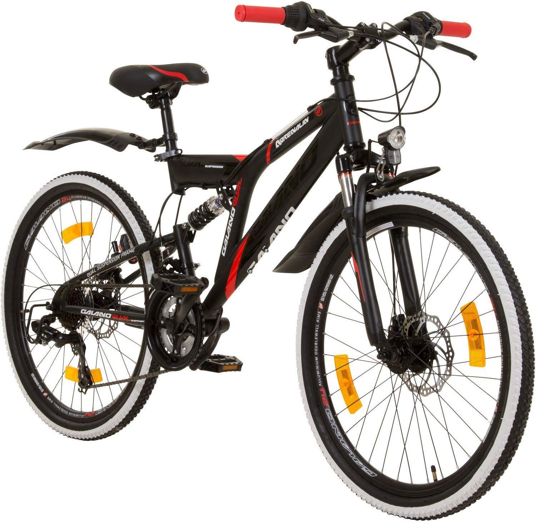 Galano 24 Zoll Mtb Fully Adrenalin Ds Mountainbike Stvzo Jugendfahrrad Das Galano Mountainbike Ist Im Alltag Und Bei Leichten Touren Jugendfahrrad Mtb Fahrrad