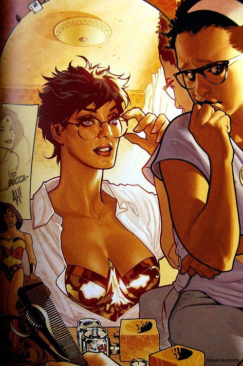 Pin By Jezika Saavedra On Wonder Woman Adam Hughes Wonder Woman Comic Book Girl
