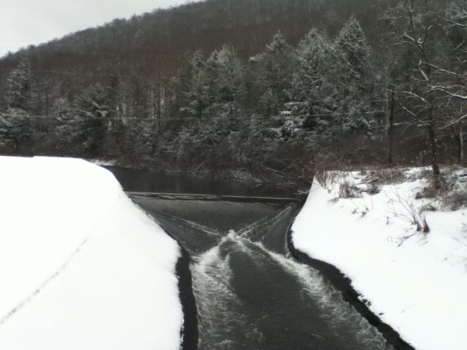 Allegheny River in Coudersport, PA, winter