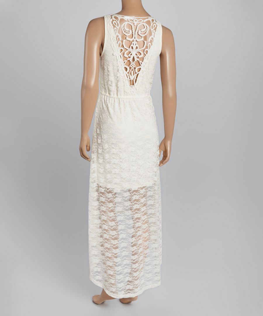 Look at this WallFlower Nude Crochet Hi-Low Maxi Dress on #zulily today!