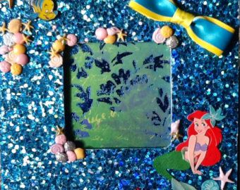 Picture Frame, Under the Sea, Princess Ariel, Little Mermaid Inspired