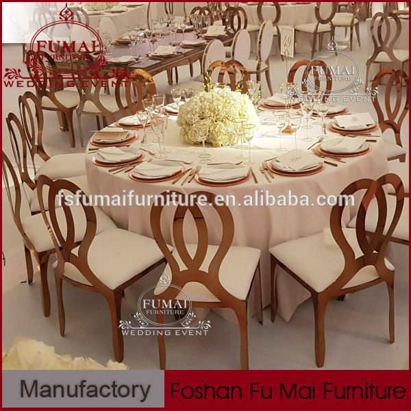 Rose Gold Infinity Dining Chair For Banquetgold Frame Banquet