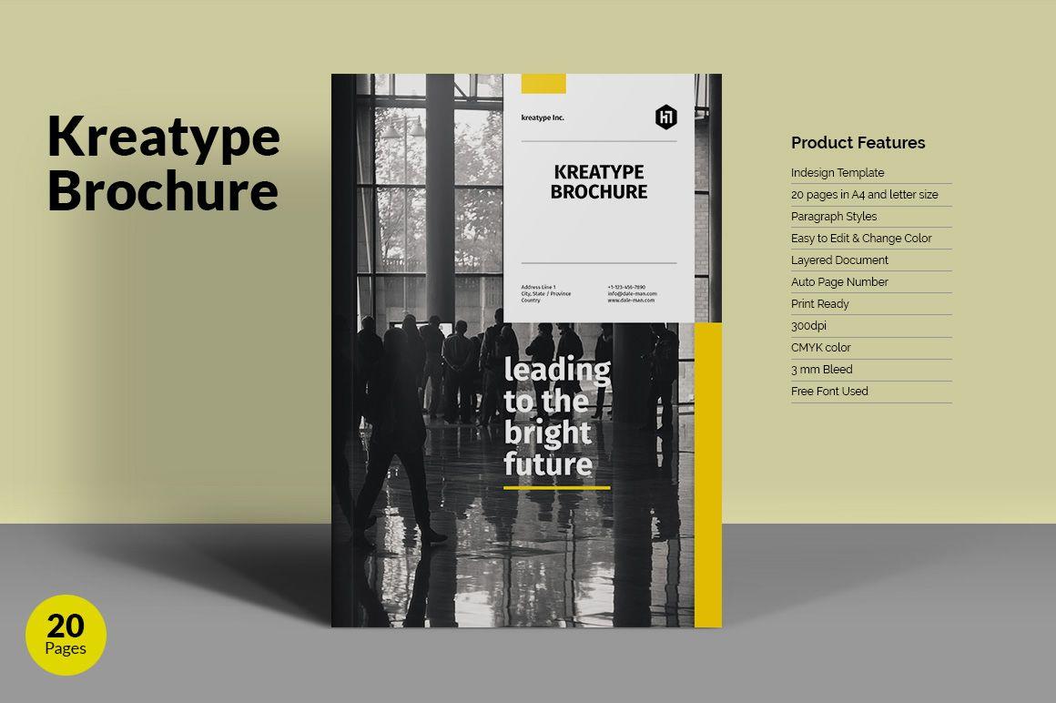 Kreatype Brochure by Kreatype Studio on @creativemarket | Layout ...