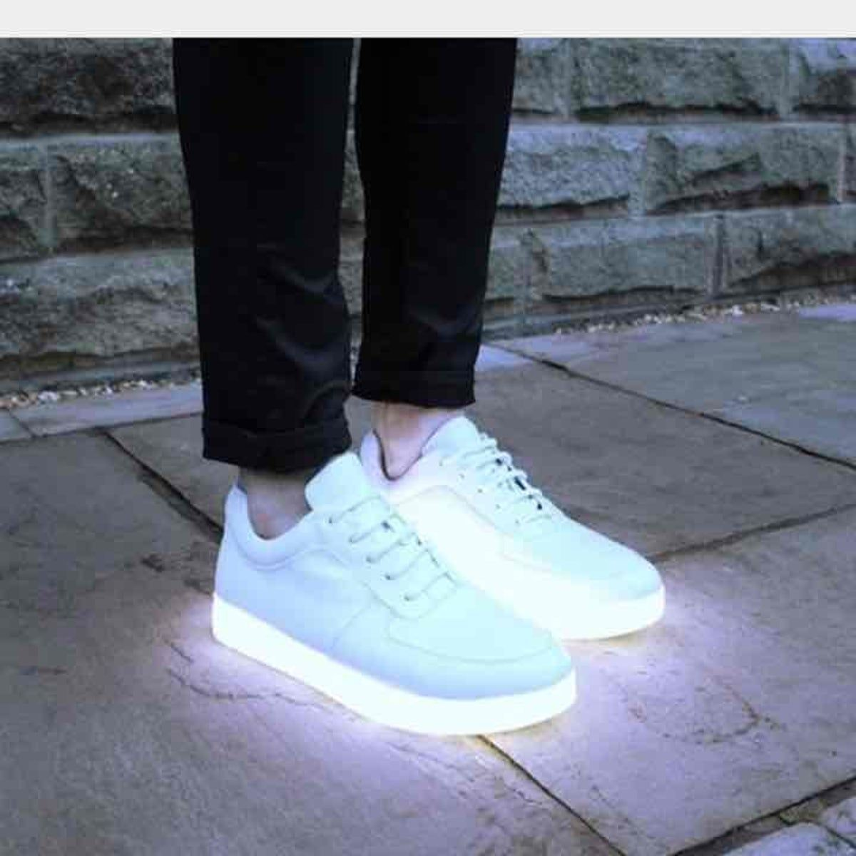 Futuristic White size 11 Led sneakers