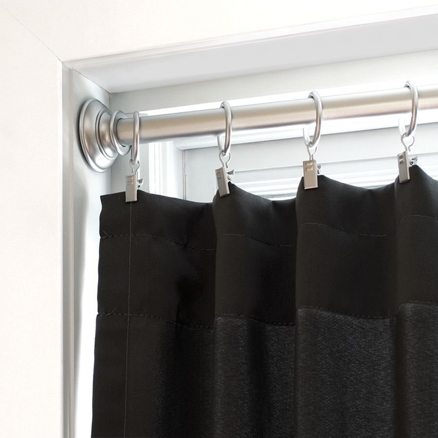 Allen Roth Satin Nickel Steel Tension Curtain Rod Lowes Com Curtain Rods Curtains Curtain Installation
