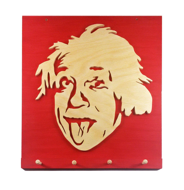 Einstein Wall Key Holder by CarteriArtAndDeco on Etsy | Gift ideas ...
