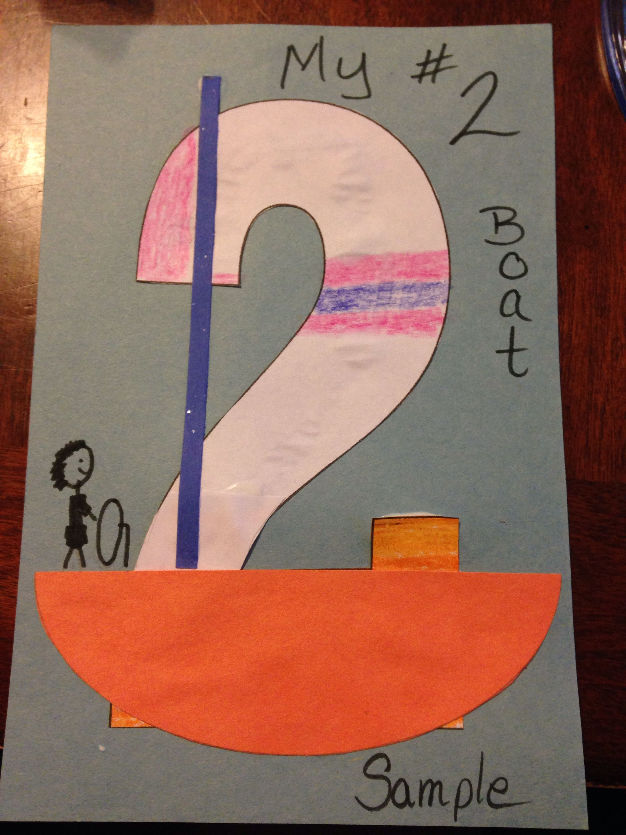 Number 2 Boat | road to preschool fun by Clare Cooklin | Pinterest
