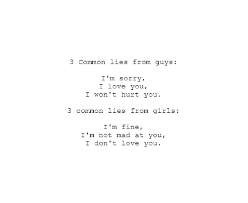Im Giving Up Text Message Quotes Common Lies Tumblr Quote