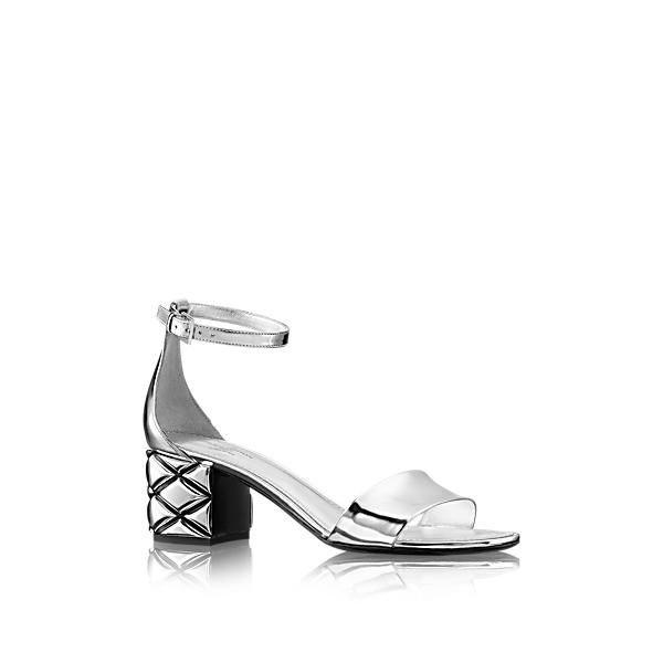b0a21431c64 LOUIS VUITTON SILVER LIGHT SANDAL.  louisvuitton  shoes