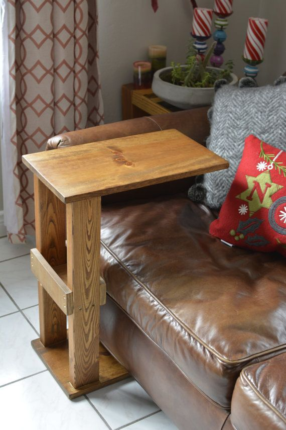 Sofa Side Tray Table Couch Arm Meal Book