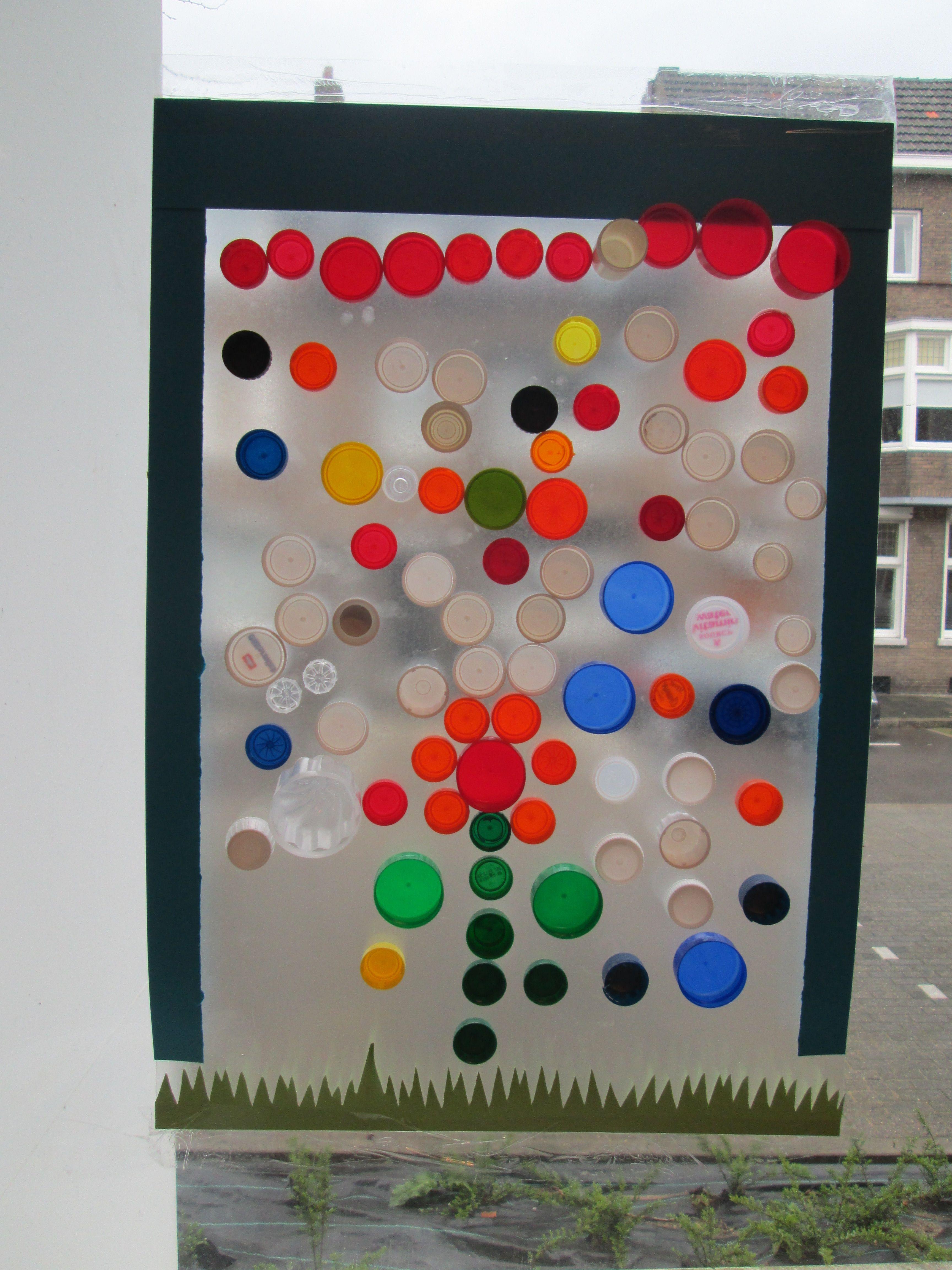 Plakplastic met tape op het raam plakken en dan met for Plakplastic raam