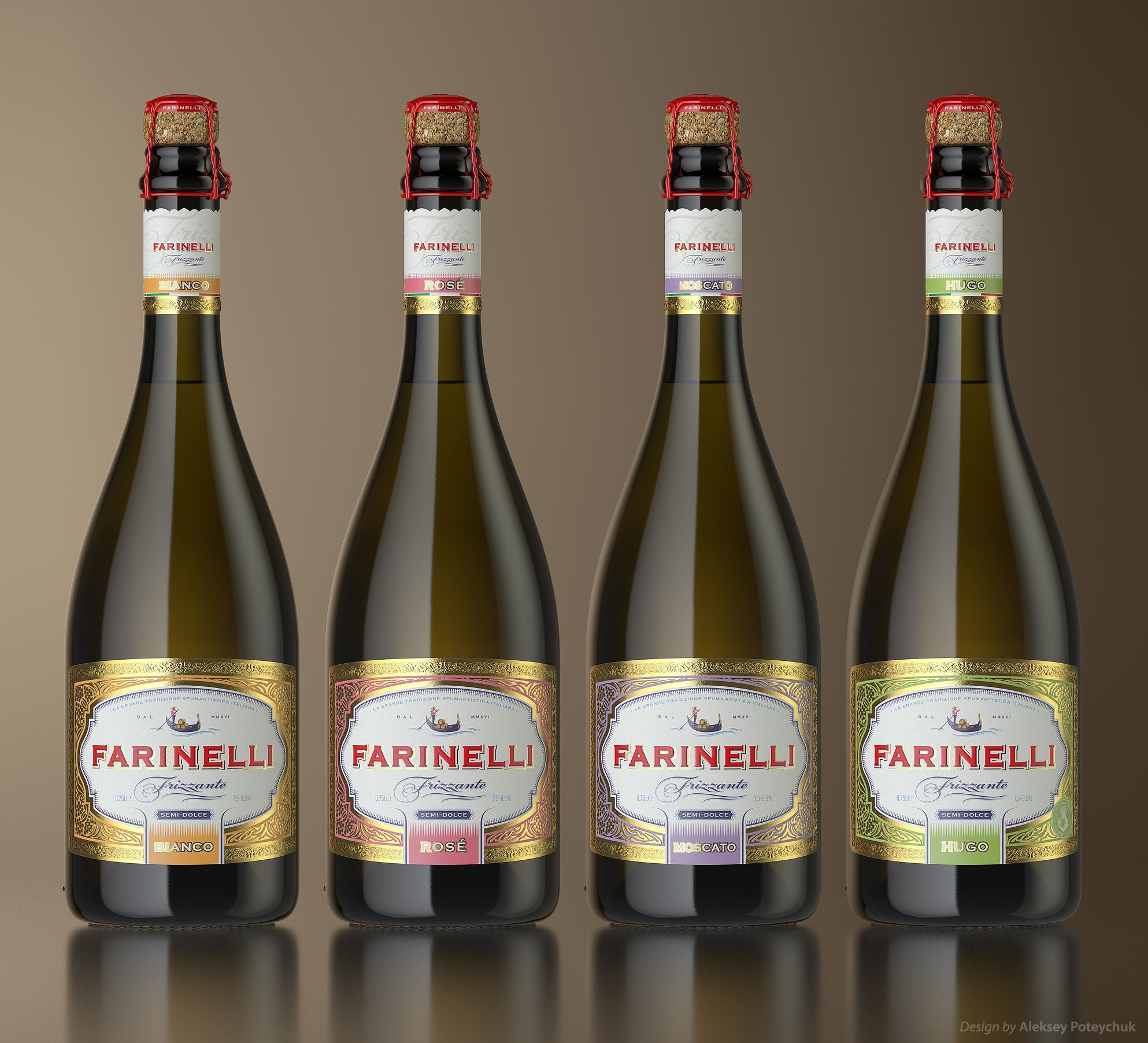 Farinelli Frizzante Wine Packaging Sparkling Wine Packaging Design