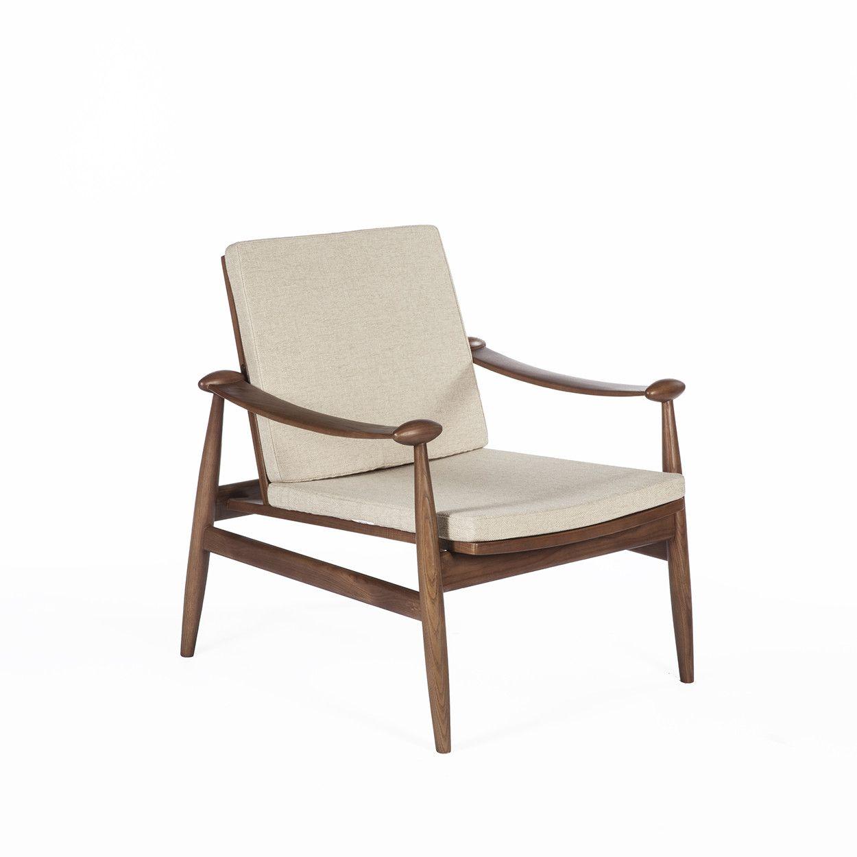 Mid century modern reproduction model 133 spade chair beige inspired by finn juhl