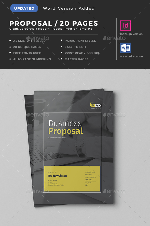 20 pages professional business proposal template indesign word 20 pages professional business proposal template indesign word proposal corporate indesign template cheaphphosting Choice Image