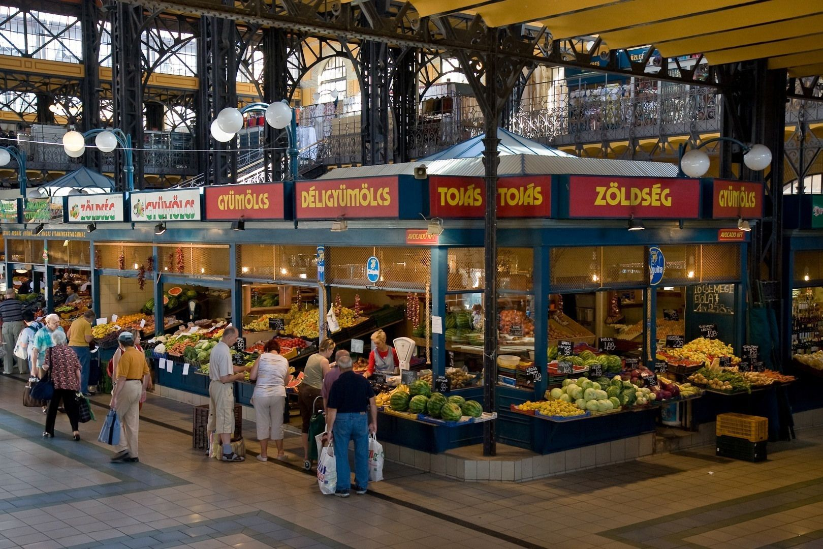 Great Market Hall ― Most of the stalls on the ground floor offer ...