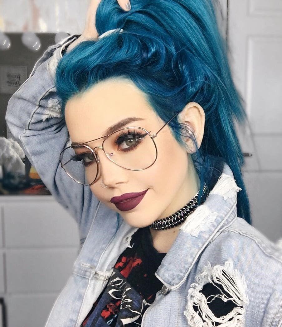 Aquamarine Hair Dye By Hailiebarber Haircolor Hairdye Hairstyle
