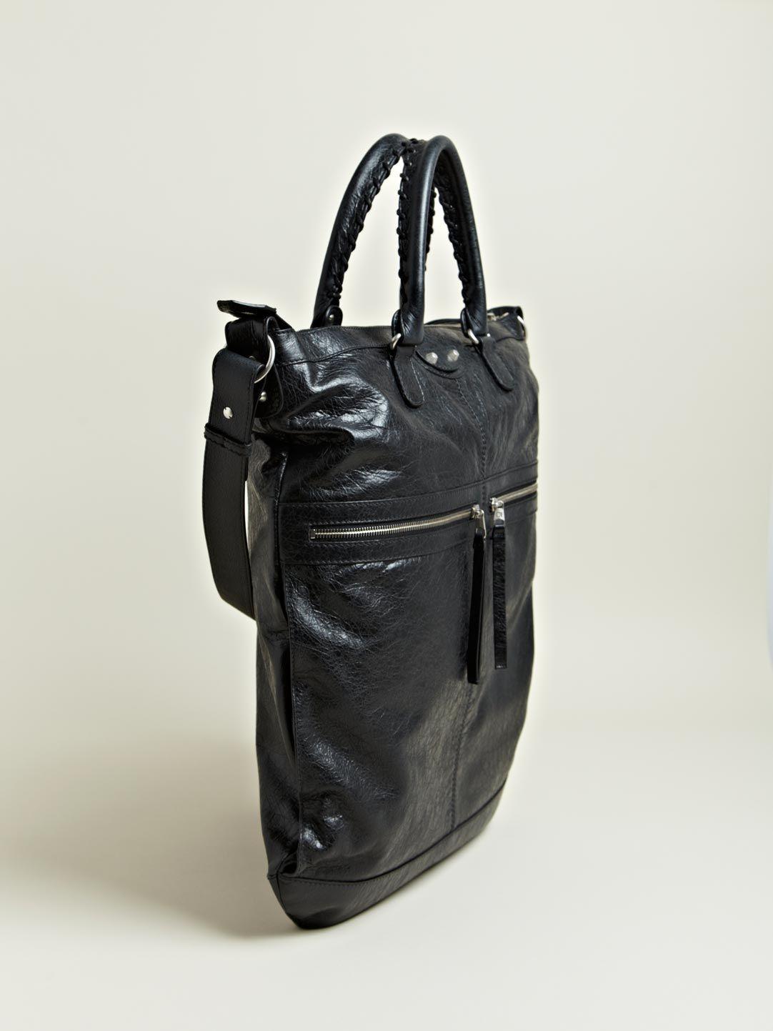 2ed2346d43 Balenciaga Men's Fettuccia Cerata Arena Bag | LN-CC | accessories ...