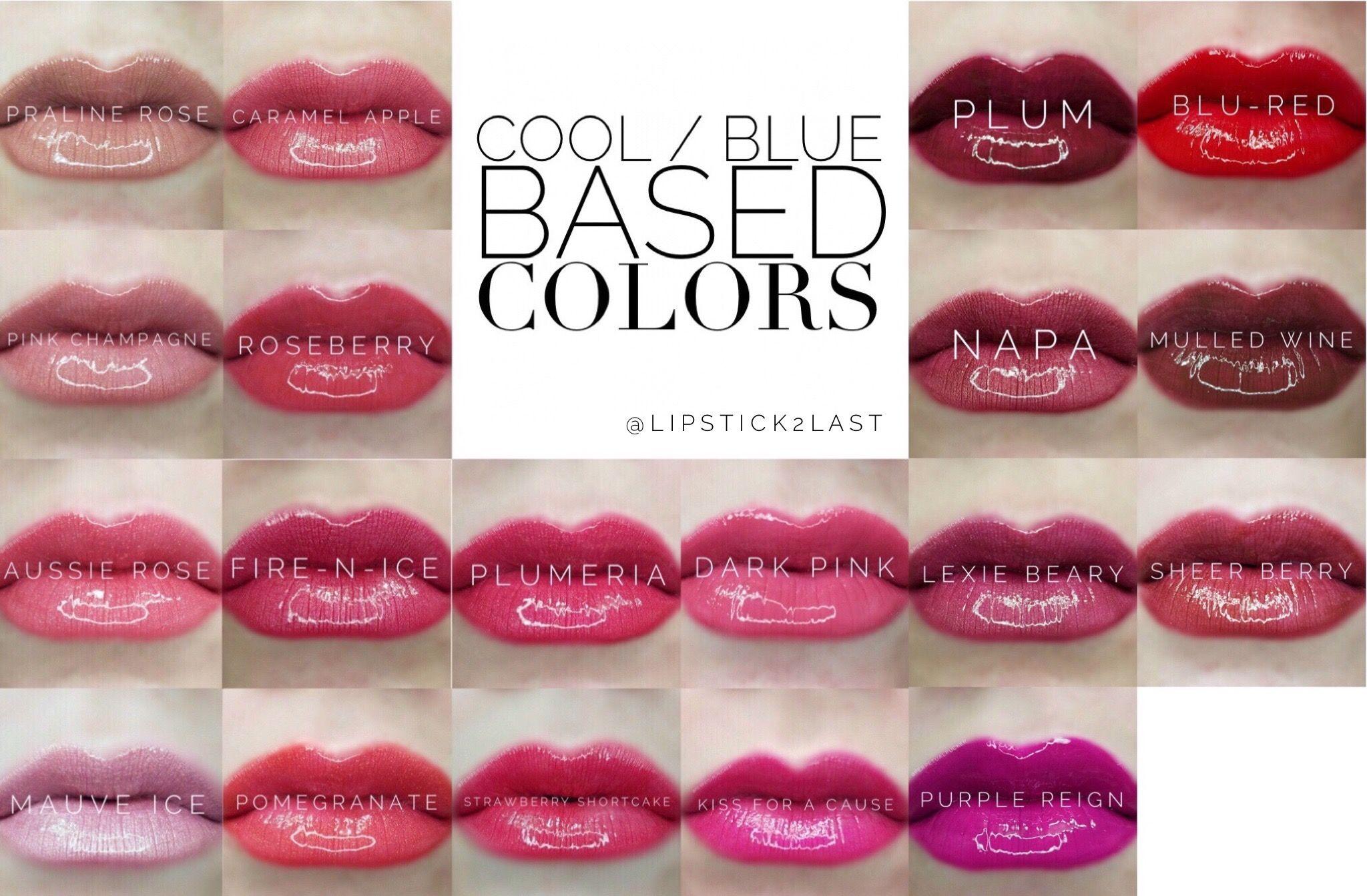 Cool based LipSense colors LipSense Colors that look best