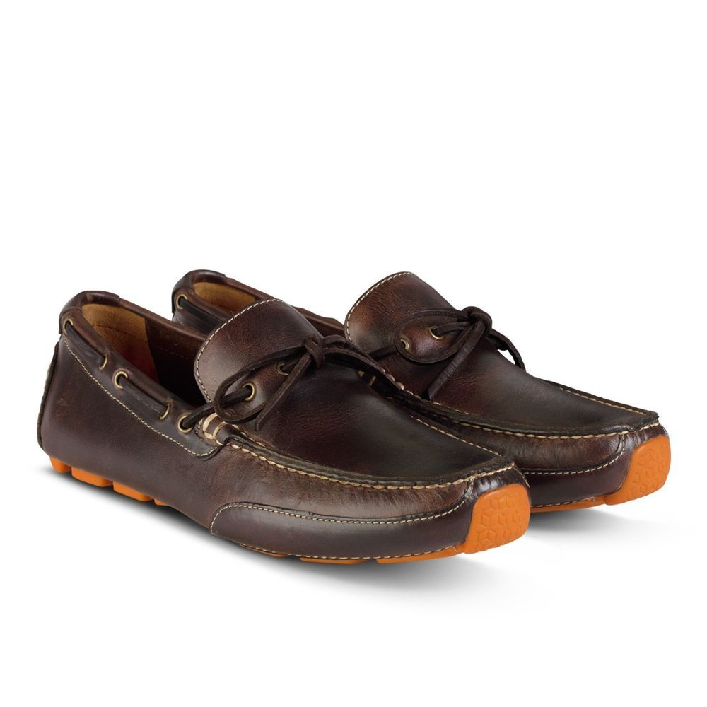 4dc41eb59ac Cole Haan Motogrand Camp Moc Men s Leather Loafers Moccasins C12157 Chestnut